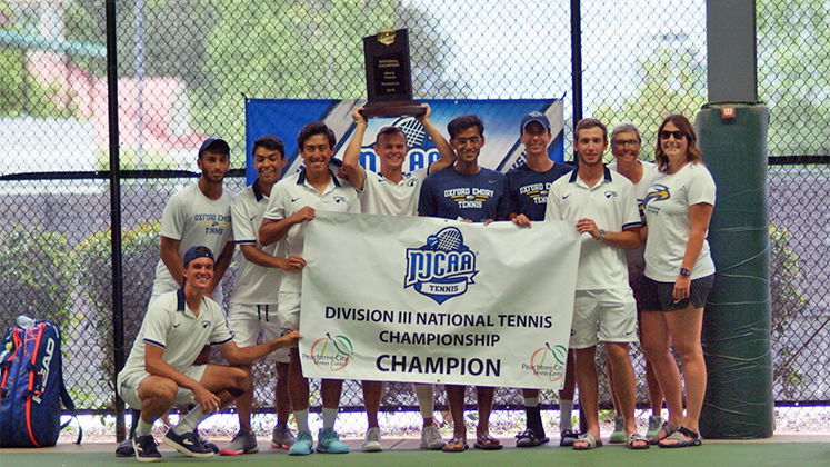 The Oxford College men's tennis team won the NJCAA DIII national championship in May.