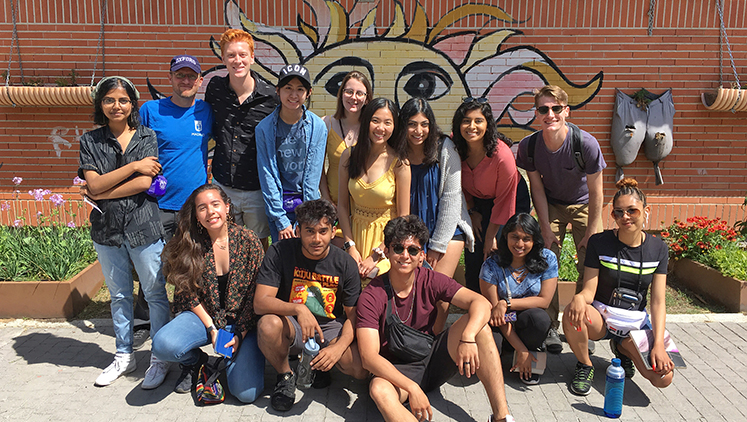Students spent 10 days traveling through Spain.