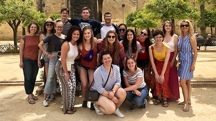 Oxford students traveled to Spain for a travel course.