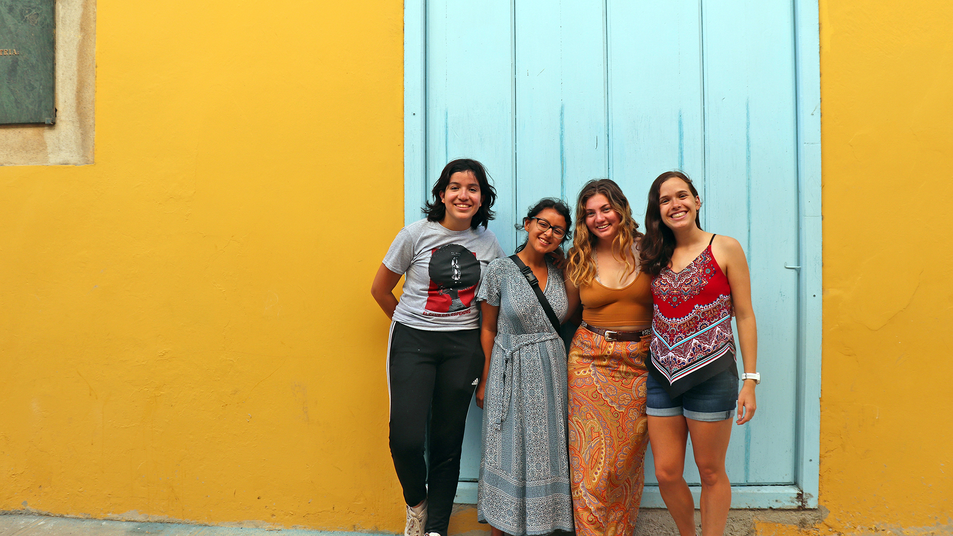 Four Oxford students in Cuba